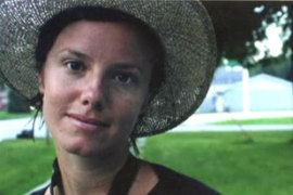 Sarah Shourd, pictured, Shane Bauer and Josh Fattal say they were on holiday in Iraq [File: EPA]