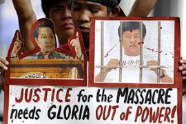 The killings sparked outrage across the Philippines and embarassed the country's president [AFP]