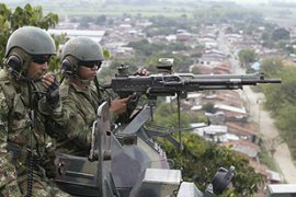 An offensive by Colombian troops has pushed the FARC and ELN onto the defensive [Reuters]