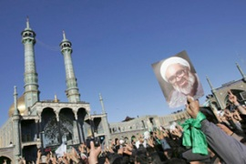 Thousands of people turned out for Montazeri's funeral  on Monday in Qom [File: Reuters]