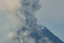 Rumblings from the Mayon volcano have been heard up to 15km away from the crater [AFP]Rumblings from the Mayon volcano have been heard up to 15km away from the crater [AFP]
