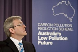 Kevin Rudd had last year announced Australia's carbon emissions target for 2020 [EPA]