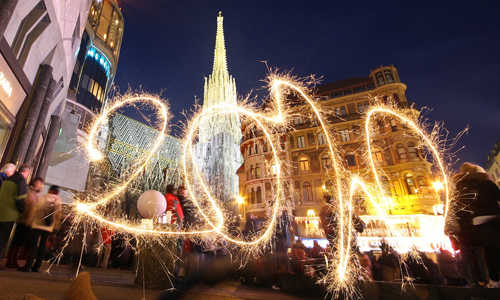 Vienna, in Austria, was also preparing to welcome the new decade in a cold Europe [EPA]