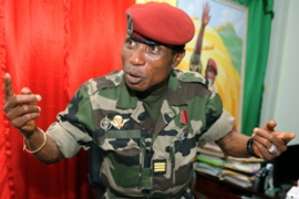 Moussa Dadis Camara was shot last Thursday, in what appeared to be an assassination attempt  [AFP]
