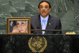 The amnesty deal has protected President Zardari from corruption charges [EPA]