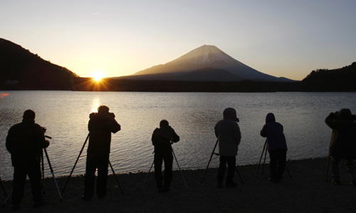 Japan's Mount Fuji is seen as a symbol of good luck, especially during the New Year period [Reuters]