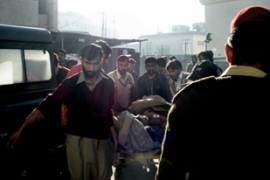 A bomb exploded in Pakistani-controled Kashmir killing three security personnel [AFP]