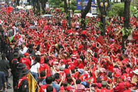 "The Red Shirts have promised to ""peacefully halt Bangkok"" in planned protests [File: EPA]"