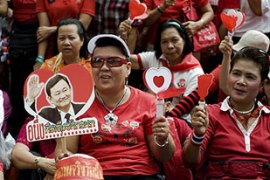 Thaksin's supporters have vowed to take to the streets to protest against the court ruling [AFP]