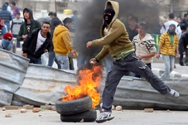 Ths strike came after a day of clashes in the occupied West Bank city of Hebron and other places [Reuters]
