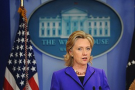 """China has made it very clear that a nuclear-armed Iran is not acceptable,"" Clinton said [AFP]"