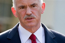 Papandreou demanded US action against speculators that he says are deepening Greece's crisis [AFP]