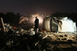 Hamas said that Israeli missiles hit two caravans, a cheese factory and a metal foundry [AFP]