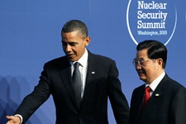 Obama wants the meeting to agree a plan for securing all nuclear material around the world [AFP]