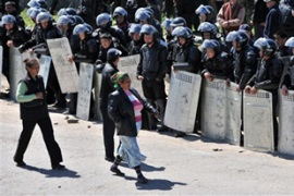 The Kyrgyz interim government is struggling to curb chaos and lawlessness in the country [AFP]