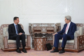 Relations between Syria and the US have been improving under the Obama administration [EPA]