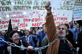 Greece's austerity measures have been met by strong protests from public-sector employees [AFP]