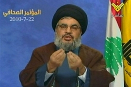Nasrallah announced on Thursday that the tribunal will implicate Hezbollah members [AFP/Al-Manar]Nasrallah announced on Thursday that the tribunal will implicate Hezbollah members [AFP/Al-Manar]
