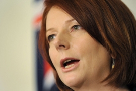 Gillard said talks were under way on a new asylum processing centre to be set up in East Timor [AFP]