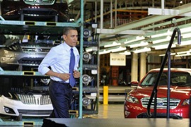 A recent poll showed just 41 per cent of Americans support Obama's handling of the economy [AFP]