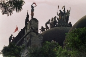 Hindu mob tore down the Mughal-era mosque in the northern town of Ayodhya [File: Douglas E Curran/AFP]