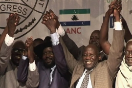 S Sudan leaders in show of unity