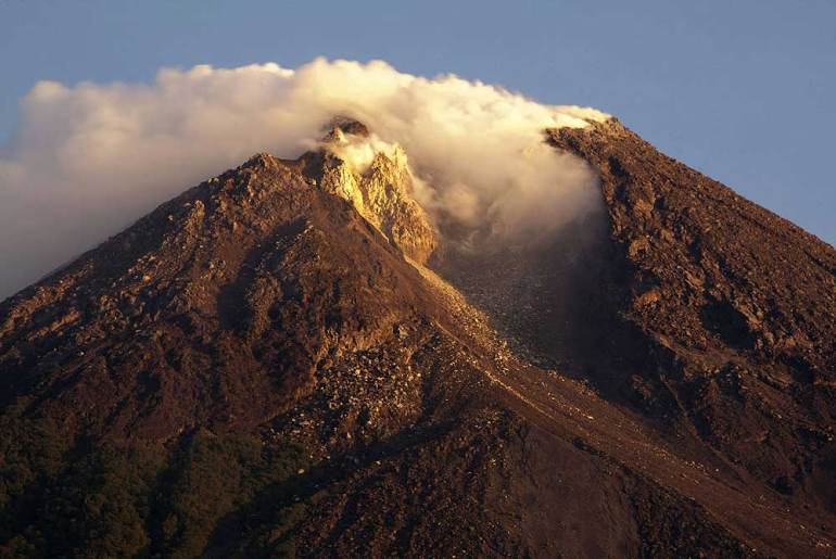 Eruptions from Mount Merapi have killed more than 1,300 people in the past 80 years, with the last eruption in 2006 [Reuters]