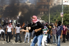 Clashes erupt at Israel march