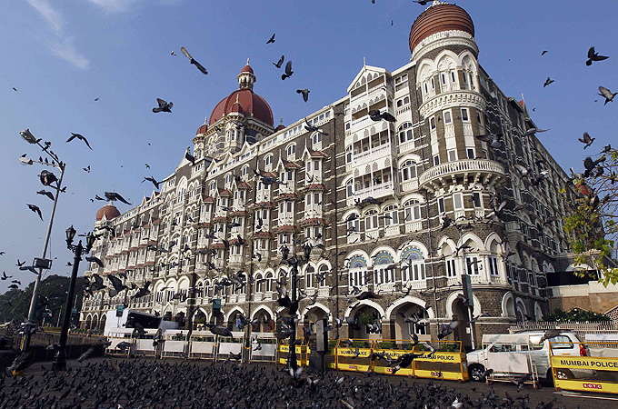 The Obamas are staying at the seafront Taj Mahal Palace hotel, a Mumbai landmark that came under attack in 2008 [Reuters]
