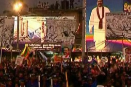 Tamils call for Rajapaksa's arrest
