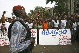 Cote d'Ivoire military backs Gbagbo