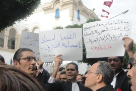 Tunisia president warns protesters
