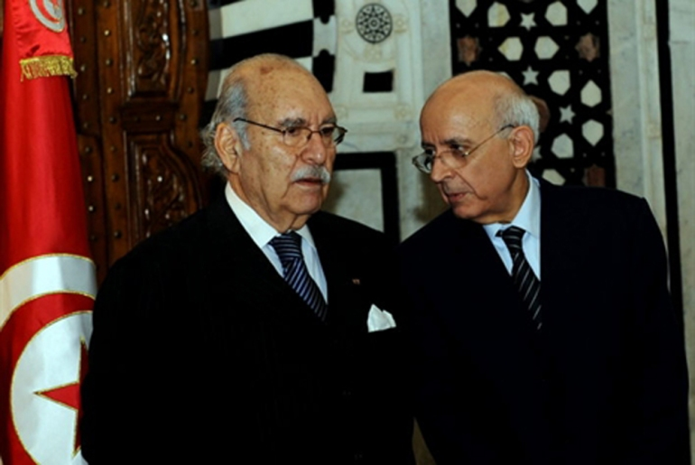 Fouad Mbazaa and Mohamed Ghannouchi, Tunisia(***)s president and prime minister, resigned from Ben Ali(***)s RCD party on January 18 in an effort to appease the opposition. Four opposition members had resigned earlier in the day [AFP]