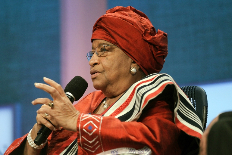 Ellen Johnson-Sirleaf, president of Liberia, was listed as one of the 10 best leaders in the world by Newsweek magazine in 2010 [GALLO/GETTY]