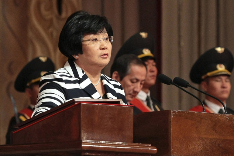 Kyrgyzstan(***)s Roza Otunbayeva(***)s inauguration on July 3, 2010, made her Central Asia(***)s first female president [EPA]