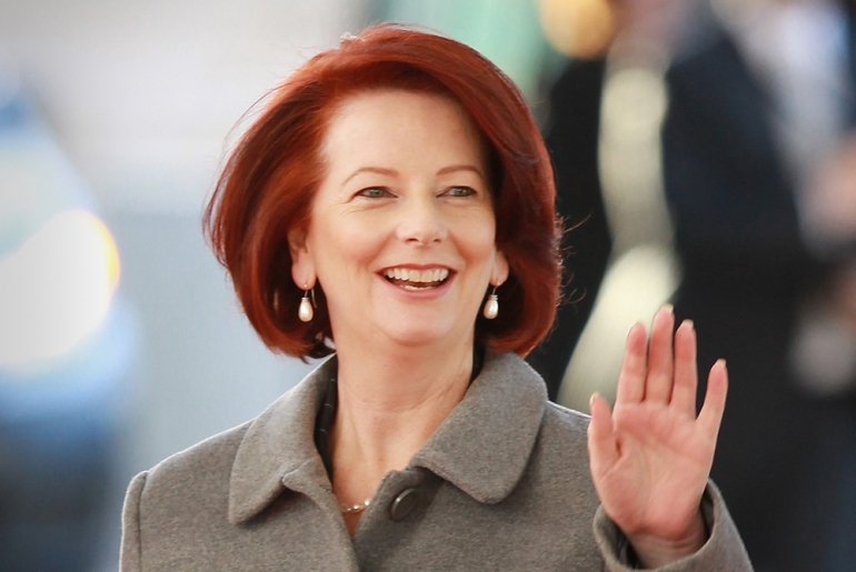 A sudden change in the Australian Labor Party(***)s leadership made Julia Gillard the country(***)s first female prime minister [GALLO/GETTY]