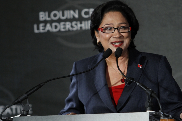 Kamla Persad-Bissessar, prime minister of Trinidad and Tobago, has weathered many political storms and broken gender barriers to get to her current position [GALLO/GETTY]