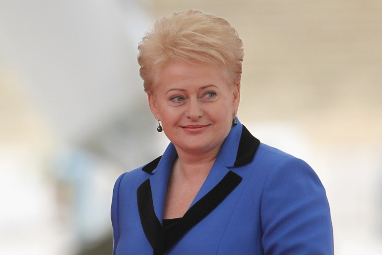 "President Dalia Grybauskaite, dubbed ""the hope of Lithuania"", is known for charting her own path [GALLO/GETTY]"