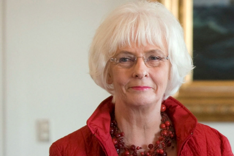 "Johanna Sigurdardottir, Iceland(***)s prime minister, has been nicknamed ""Saint Johanna"" for her work for the rights of the handicapped, elderly and disadvantaged [EPA]"