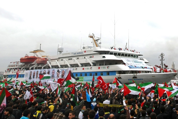 The Mavi Marmara ship returned to Istanbul after the Israeli raid that killed 10 people [File: EPA]