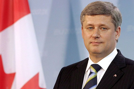 Prime Minister Stephen Harper says he seeks a 'peaceful resolution' to the tensions with Iran [EPA]