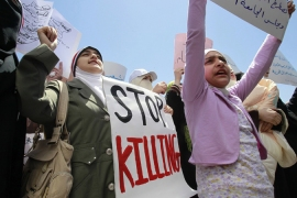 Protesters killed in Syrian shooting