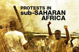 Protests in sub-Saharan Africa