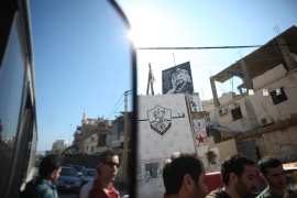 Palestinians, Lebanese and other activists meet outside Beirut(***)s Mar Elias refugee camp to board buses heading to the right of return protest in south Lebanon [Matthew Cassel]