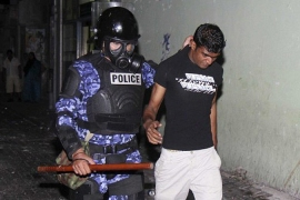 Maldives police break up opposition protest