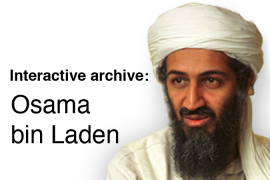 Interactive archive: Osama bin Laden
