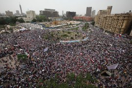 Pro-reform protesters pack Cairo square