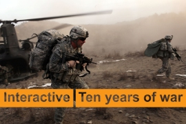 Interactive: Ten years of war