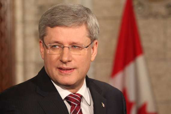 Canadian PM Stephen Harper views Iran as a visceral threat to Israel and, therefore, global security  [EPA]