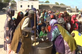 Aid only trickles to Somali children